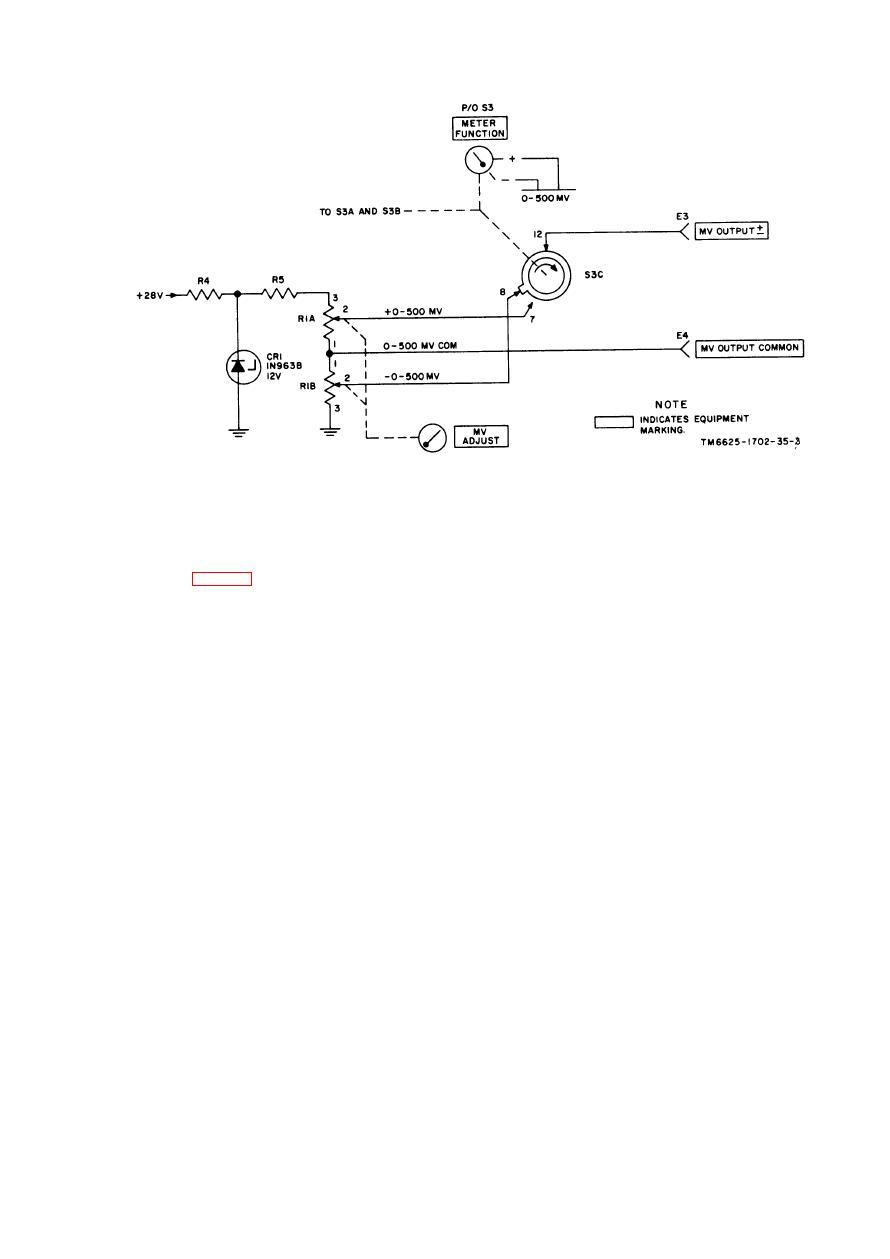Figure 1 3 0 To 500 Millivolt Power Supply Schematic Diagram Wiring Tm 11 6625 1702 35